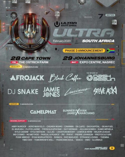 JetBlack Artists to Perform at ULTRA South Africa